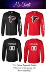 Atlanta Falcons Logo Football Long Sleeve Shirt with Custom Name $25.59 USD on eBay