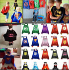 HOT Superhelden Umhang Cape + Mask Kinder Heros mit Maske Kostüm Cosplay Suit*