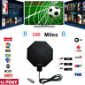 1byone HDTV Antenna Indoor 1080P 4K HD 100 Mile Ultra Thin TV Signal Sky Digital