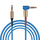 3.5mm MaletoMale Car Aux Auxiliary Cord Right Angle Audio Cable For Phone PC U