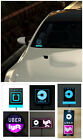 For Uber Lyft Car Led Light Sign Bright Glowing Car Logo Wireless Lamp Sticker