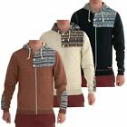 Kids Soul Star Quilted Designer Zip Button Aztec Jumper Sweatshirt Hoodie Top
