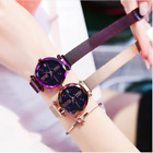 Starry Sky Watch Waterproof Magnet Strap Free Buckle Stainless Steel Women Gift image