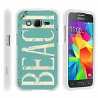 For Samsung Galaxy Core Prime G360 Hard Fitted 2 Piece Snap On Case White