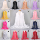 Floral Lace Edges Hijab Shawl Cotton Muslim Scarves Scarf Women Plain Maxi Scarf