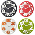 Home Office Kitchen Moden 3D Big Digits Decor Round Shape Wall Clock Art Clock