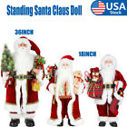 """18""""36"""" Santa Claus Doll Adept in Decor Standing Father Christmas Figure Ornament LOT"""