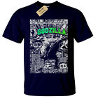 GODZILLA Mens T Shirt S-5XL SCREEN PRINTED Retro Comic dinosaur gift