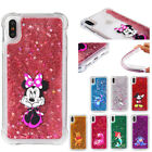 For Iphone Xs Max Xr 5s 6 7 8 Plus Disney Moving Glitter Liquid Phone Cover Case