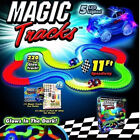 MAGIC TRACKS 220 Glow in the Dark LED LIGHT UP RACE CAR Bend Flex Racetrack <br/> Fast and Free Delivery+Top Seller+Great Gift