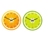 Lemon Fruit 12H Display Decor Wall Clock Watch Time Home Office Kitchen Cafe