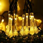 Solar Garden String Lights Fairy 30 LED Christmas Outdoor Garden Party Drop