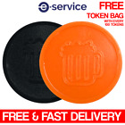 BEER EMBOSSED PLASTIC ORANGE AND BLACK TOKENS - HALLOWEEN EVENT PARTY FESTIVAL