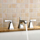 Widespread Modern Solid Brass Sink Faucet Double Handles Hand Washing Basin Tap