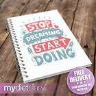WEIGHT LOSS DIARY - Stop Dreaming (G019W) 12wk diet weight loss slimming tracker