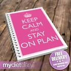 FOOD DIET DIARY - Keep Calm Stay On Plan (G050W) 12wk weight loss slimming diary