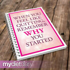 WEIGHT WATCHERS COMPATIBLE DIET DIARY - Feel Like Quitting (W013W) 12wk notebook