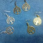 LOVELY TREE OF LIFE EARRINGS or PENDANT  SILVER - BRONZE - GOLD -TONE  dangle  image