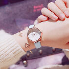 Women Girl Classic Quartz Wrist Watch PU Leather Strap Candy Color Watches image
