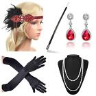 Beelittle 1920s Accessories Headband Earrings Necklace Gloves Cigarette Holder