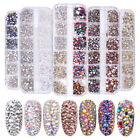 1440pcs Flat Back Nail Art Rhinestones Glitters Diamonds 3D Tip Manicure Decor