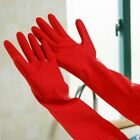 Protect Hand Red Rubber Glove Latex Kitchen Long Practical Dish Washing Cleaning