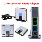 Unlocked VoIP Gateway Router SIP RJ45 2 Phone Ports Adapter for Linksys PAP2T