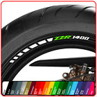 KAWASAKI ZZR 1400 wheel rim stickers decals - choice of 20 colours - zzr1400 abs