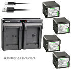 Kastar Battery Dual Charger for Panasonic VBG260 HDC-TM700 HDC-TM700K Camcorder
