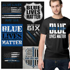Support Blue Tee Shirt Police Graphic T-Shirt For Men Women Cop Tees Shirts Gift image