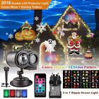 Dual LED Snowflake Projector Christmas Moving Laser Projection In Outdoor Light