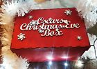 Personalised Christmas Eve Box And Topper Xmas Tree Gift Memory Box Wooden mdf