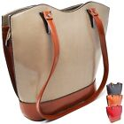 Borsa da Donna Grande Media a Tracolla Spalla in Pelle Elegante Nera Shopper Bag