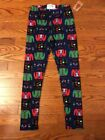 NWT Girls Ugly Christmas Sweater Fleece Lined Leggings POOF! Size 10/12  or 14