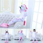 Kids Rainbow Unicorn Kigurumi Animal Cosplay Costume Girl Boys Pajamas Sleepwear