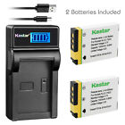 Kastar Battery LCD Charger for GE GB-40 & GE E1050TW GE E1055 GE E1235 Camera