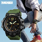 SKMEI Mens Sport LED Digital Alarm Waterproof Chrono Military Quartz Wrist Watch image