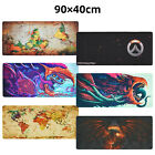 Gaming Mouse Pad Large Speed Gaming Desk Mat Hyper Beast World Map 900x400mm