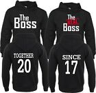 The Boss The Real Boss LOVE VALENTINE'S Together Since COUPLE HOOD-S-3XL