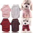 US Puppy Dog Cat Clothing Small Pet Coat Stars Cotton Stripes Bottoming Shirt