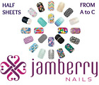 jamberry wraps half sheets * A to C * buy 3 & get 1 FREE!  NEW STOCK 10/6 !! 🎁? $5.95 USD on eBay
