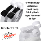 """Strength Hook And Loop Straps 1"""" x 16 Feet With Self Adhesive Tape For Fastening"""