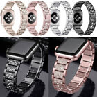 Luxury Bling Crystal Diamond Aluminum Wrist Band For Watch iWatch 42/38 mm image