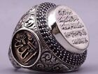 Turkish Handmade Jewelry Silver İslamic Men's Ring Size 5-10 image