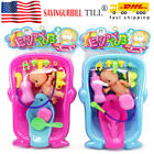 New Baby Shower Doll in Bath Tubs with Duck Shower For Infant Kids Toy Xmas Gift