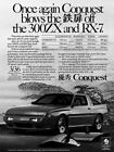 1989 Chrysler Conquest #7 Vintage Car Poster Print Wall Art Sign Auto Garage