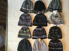 Adidas Knit Beanie Men One Size New Tags White Gray Black Blue Lined Reversible