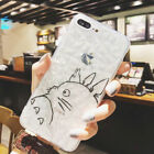 Totoro Kawaii Silicone Clear Crystal TPU Case Cover For iPhone X 8 7 6/6s Plus