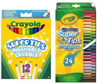 'Crayola Kids Colouring Supertips Childrens Markers Felts Pens Pencils Crayons