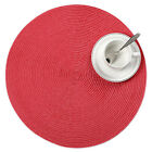 1pcs Round PP Woven Placemats Table Pads Non-slip Tableware Cloth Mats 38cm